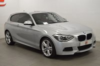 USED 2013 62 BMW 1 SERIES 2.0 118D M SPORT 3d 141 BHP RARE RED LEATHER + BMW SERVICES + 18 INCH ALLOYS + PRIVACY GLASS + PART EX WELCOME