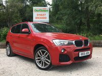 USED 2015 15 BMW X3 2.0 XDRIVE20D M SPORT 5dr Sat Nav, Leather, PDC, 1 Owner