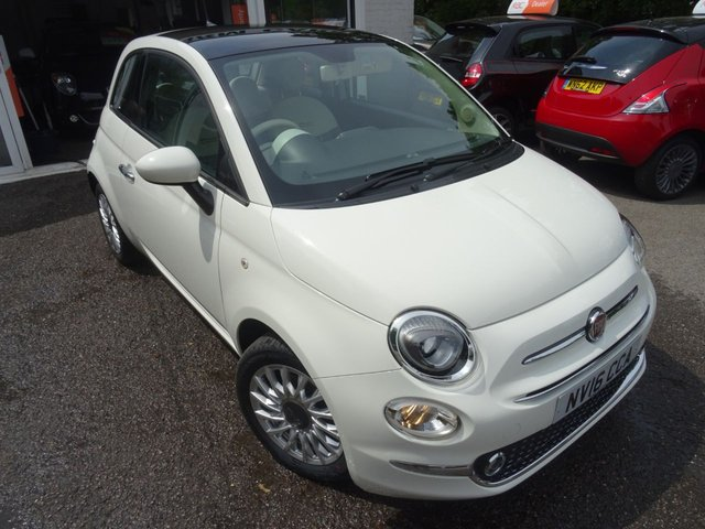 2016 16 FIAT 500 1.2 LOUNGE 3d 69 BHP NEW SHAPE
