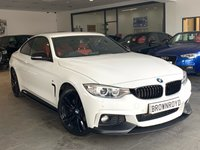 USED 2014 14 BMW 4 SERIES 2.0 420D XDRIVE M SPORT 2d AUTO 181 BHP M PERFORMANCE STYLING+RED LTHR