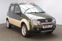 USED 2008 08 FIAT PANDA 1.2 16V MULTIJET CROSS 5DR 1 OWNER 69 BHP FOUR - WHEEL DRIVE + MULTI FUNCTION WHEEL + AIR CONDITIONING + RADIO/CD/MP3 + ELECTRIC WINDOWS + ELECTRIC MIRRORS + 15 INCH ALLOY WHEELS