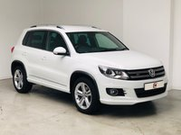USED 2015 65 VOLKSWAGEN TIGUAN 2.0 R LINE TDI BLUEMOTION TECHNOLOGY 4MOTION 5d 148 BHP 1 LADY OWNER + ONLY 20K MILES + SAT NAV + TOP R LINE MODEL + PART EX WELCOME