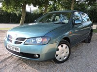 USED 2003 03 NISSAN ALMERA 1.8 SE 5d AUTOMATIC 114 BHP/ PARKING SENSORS GREAT CONDITION AND AUTOMATIC NISSAN ALMERA SE WITH PARKING SENSORS/ AIR CONDITIONING/ COMES WITH 1 YEAR NEW MOT/ SERVICE HISTORY/ NEW SERVICE/ 2 KEYS/ HPI CLEARED/ SPARE WHEEL/ ALL 4 TYRES IN A GOOD CONDITION/  BOOK A TEST DRIVE TODAY!