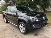 USED 2013 63 VOLKSWAGEN AMAROK 2.0 DC TDI HIGHLINE 4MOTION 1d AUTO 180 BHP lack Leather Heated Seats, Satellite Navigation + Bluetooth Connectivity, Front and Rear Park Distance Control + Optical Park, 19 Inch Alloy Wheels, Lockable Rock and Roll Load Cover, Factory Fitted Chrome Side Tubes, Leather Multi Function Steering Wheel, Cruise Control, Towbar + Electrics,