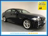 USED 2016 16 BMW 5 SERIES 2.0 520D M SPORT 4d AUTO 188 BHP FULL BMW HISTORY - 1 OWNER - EURO 6 - SAT NAV - LEATHER - PARKING SENSORS - AIR CON - BLUETOOTH - DAB