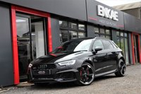 USED 2018 18 AUDI RS3 2.5 RS 3 QUATTRO 5d AUTO 395 BHP PANORAMIC ROOF*RS SPORT EXHAUST*RS DESIGN PACK* REVERSE CAMERA*KEY-LESS ENTRY*KEY-LESS START*SUPER SPORT SEATS*COMFORT PACK*BANG & OLUSFEN SOUND SYSTEM*PRIVACY GLASS*FINE NAPPA LEATHER*DIAMOND STITCHING*MATRIX LED HEADLIGHTS*GLOSS BLACK STYLING PACK*BLACK GRILL*BLACK ALLOYS*BLACK ROOF RAILS*HOLD ASSIST*FOLDING MIRRORS*ELECTRIC MIRRORS*CARBON MIRRORS*