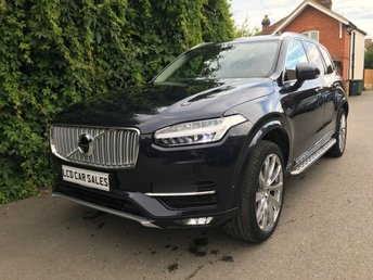 2016 VOLVO XC90 2.0 D5 INSCRIPTION AWD - FULL VOLVO SERVICE HISTORY - ONE OWNER FROM NEW - PANORAMIC TILT & SLIDE SUNROOF, REAR ENTERTAINMENT SYSTEM, BLIND SPOT ASSIST, BOWER & WILKINS STEREO UPGRADE, APPLE CARPLAY, 360 SURROUND VIEW CAMERA, PARK ASSIST PILOT, LANE DEPARTURE WARNING SYSTEM, KEYLESS DRIVE & ENTRY, SATELLITE NAVIGATION £34990.00