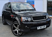 USED 2012 62 LAND ROVER RANGE ROVER SPORT 3.0 SDV6 HSE RED EDITION Stunning 5d Family SUV AUTO with Overland 22inch Alloys and Incredible Low Mileage STUNNING IN SANTORINI BLACK WITH OVERFINCH ALLOYS