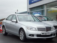 USED 2008 58 MERCEDES-BENZ C CLASS C180 1.8  KOMPRESSOR SE 4dr (155bhp) ...TWO LOCAL OWNERS ONLY. SERVICE HISTORY. BEAUTIFUL CONDITION.