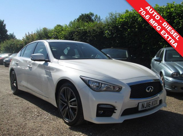 USED 2016 16 INFINITI Q50 2.1 SPORT D 4d AUTO 168 BHP MERCEDES BENZ ENGINE - HEATED FRONT SEATS