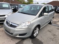 USED 2008 58 VAUXHALL ZAFIRA 1.6 i 16v Exclusiv 5dr GREAT VALUE SEVEN SEATER, SUPPLIED WITH A  NEW MOT