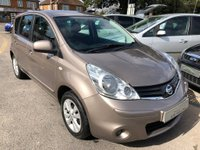 USED 2010 60 NISSAN NOTE 1.4 16v Acenta 5dr AIR CONDITIONING, ALLOYS,  BLUETOOTH, SUPPLIED WITH A  NEW MOT