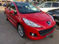 USED 2012 12 PEUGEOT 207 1.6 HDi FAP Allure 5dr BLUETOOTH GLASS ROOF, HALF LEATHER, SUPPLIED WITH A NEW MOT