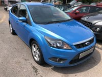 USED 2010 10 FORD FOCUS 1.6 Zetec 5dr AIR CONDITIONING, REAR PRIVACY GLASS, REAR PARKING AID, SUPPLIED WITH A NEW MOT