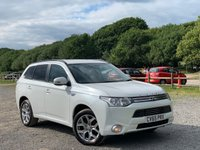 USED 2015 65 MITSUBISHI OUTLANDER 2.0 PHEV GX 3H 5d AUTO 162 BHP X2 KEYS,  OWNER FROM NEW, FULL SERVICE HISTORY MAIN DEALER, MOT AUG 2019, ULEZ COMPLIANT, LEATHER SEATS, PADDLESHIFT, REAR PARKING AID, KEYLESS ENTRY, KEYLESS GO, AUTO START/STOP, CD/RADIO, BLUETOOTH, USB, ECO MODE, 4WD MODE, CRUISE CONTROL, DUAL A/C CLIMATE CONTROL, ELECTRIC WINDOWS & FOLDING MIRRORS, REAR PRIVACY GLASS, HPI CLEAR