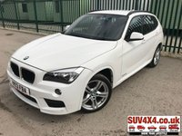 USED 2013 13 BMW X1 2.0 XDRIVE20D M SPORT 5d 181 BHP LEATHER FSH BODYKIT. X DRIVE 4WD. STUNNING WHITE WITH FULL BLACK LEATHER SPORT TRIM. CRUISE CONTROL. 18 INCH ALLOYS. COLOUR CODED TRIMS. PARKING SENSORS. BLUETOOTH PREP. CLIMATE CONTROL WITH AIR CON. 6 SPEED MANUAL. R/CD PLAYER. MFSW. MOT 04/20. ONE PREV OWNER. FULL SERVICE HISTORY. SUV4X4 USED SUV CENTRE LS23 7FR. TEL 01937 849492. OPTION 2