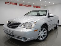 2008 CHRYSLER SEBRING 2.7 V6 ( 200 BHP ) LIMITED CABRIO AUTO..HEATED LEATHERS £3750.00