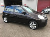 USED 2013 13 NISSAN MICRA 1.2 ACENTA 5d AUTO 79 BHP ALLOYS, AIR CONDITIONED, BLUETOOTH, REMOTE LOCKING,