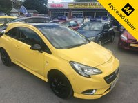 USED 2015 15 VAUXHALL CORSA 1.0 LIMITED EDITION ECOFLEX S/S 3 DOOR 113 BHP IN YELLOW REVERSE CAMERA LOW MILEAGE SERVICE HISTORY IMMACULATE CONDITION APPROVED CARS AND FINANCE ARE PLEASED TO OFFER THIS VAUXHALL CORSA 1.0 LIMITED EDITION ECOFLEX S/S 3 DOOR 113 BHP IN YELLOW. HUGE SPEC INCLUDING ABS,POWER STEERING,ALLOY WHEELS,MULTI MEDIA DISPLAY,MULTI FUNCTION STEERING WHEEL,SPORT SEATS,PANORAMIC ROOF,SERVICE HISTORY AND MUCH MORE. WE HAVE PRICED THIS CAR TO SELL SO DO NOT MISS OUT AND CALL 01622-871-555 AND BOOK YOUR TEST DRIVE TODAY.