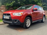 USED 2012 12 MITSUBISHI ASX 1.6 2 5d 115 BHP FULL SERVICE HISTORY, MOT APR 20, EXCELLENT CONDITION, ALLOYS, AIR CON, RADIO CD, E/WINDOWS, R/LOCKING, FREE WARRANTY, FINANCE AVAILABLE, HPI CLEAR, PART EXCHANGE WELCOME,
