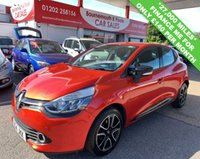 USED 2014 14 RENAULT CLIO 1.1 DYNAMIQUE MEDIANAV 5d 75 BHP 1 OWNER, ONLY 27,000 MILES