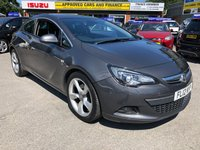 2012 VAUXHALL ASTRA 2.0 GTC SRI CDTI S/S 3d 162 BHP IN METALLIC DARK GREY WITH PART SERVICE HISTORY. TRADE CLEARANCE CAR £3999.00