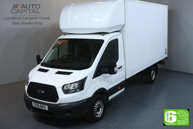 2018 18 FORD TRANSIT 2.0 350 L4 EXTRA LWB 129 BHP EURO 6 ENGINE LUTON ELECTRIC AND HEATED MIRRORS