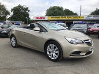 2014 VAUXHALL CASCADA 2.0 SE CDTI 2 DOOR AUTO 165 BHP IN CHAMPAGNE ONE OWNER FULL SERVICE HISTORY AUTOMATIC £8999.00