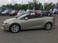 USED 2014 14 VAUXHALL CASCADA 2.0 SE CDTI 2 DOOR AUTO 165 BHP IN CHAMPAGNE ONE OWNER FULL SERVICE HISTORY AUTOMATIC APPROVED CARS AND FINANCE ARE PLEASED TO OFFER THIS VAUXHALL CASCADA 2.0 SE CDTI 2 DOOR AUTO 165 BHP IN CHAMPAGNE. HUGE SPEC ON THIS CAR INCLUDING ABS,POWER STEERING,ALLOY WHEELS,BLUETOOTH,CD PLAYER,PARKING SENSORS,CRUISE CONTROL,FULL SERVICE AT 7K,15K,19K,26K MILES. THIS IS A TRULY SPECTACULAR CAR NOT ONLY FOR THE SUMMER BUT THE WHOLE YEAR ROUND AND AS YOU CAN SEE IT IS PRICED TO SELL QUICKLY, SO CALL 01622-871-555 NOW AND BOOK YOUR TEST DRIVE TODAY.