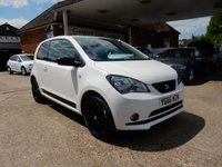 USED 2016 66 SEAT MII 1.0 DESIGN 3d 59 BHP AIR CON,ONE OWNER,SAT NAV,BLUETOOTH,SEAT HISTORY,TWO KEYS