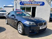 USED 2012 12 BMW 5 SERIES 2.0 520D M SPORT 4d AUTO 181 BHP Great Spec, Low Miles, 12 Months MOT & Service inc