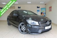 USED 2016 16 MERCEDES-BENZ CLA 1.6 CLA 180 AMG LINE 4d AUTO 121 BHP BLACK LEATHER, SATELLITE NAVIGATION, ACTIVE PARK ASSIST, REVERSE CAMERA, BI XENONS, AMG BODY STYLING PK, NIGHT PK, PRIVACY GLASS, SEAT COMFORT PACK, CRUISE CONTROL
