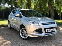 USED 2015 65 FORD KUGA 2.0 TITANIUM X SPORT TDCI 5d AUTO 177 BHP FANTASTIC LOOKING CAR, GREAT SPEC,SAT NAV LEATHER SEATS