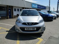 USED 2013 63 NISSAN MICRA 1.2 ACENTA DIG-S 5d 97 BHP Full Service History & Large Specification