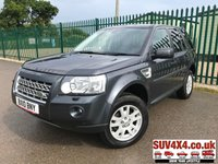 USED 2010 10 LAND ROVER FREELANDER 2 2.2 TD4 E XS 5d 159 BHP 4WD. SATELLITE NAVIGATION. STUNNING GREY MET WITH PART BLACK LEATHER TRIM. ELECTRIC HEATED SEATS. CRUISE CONTROL. 17 INCH ALLOYS. COLOUR CODED TRIMS. PRIVACY GLASS. PARKING SENSORS. BLUETOOTH PREP. CLIMATE CONTROL. TRIP COMPUTER. R/CD/MP3 PLAYER. 6 SPEED MANUAL. MFSW. TOWBAR. MOT 06/20. SERVICE HISTORY. SUV4X4 USED SUV CENTRE LS23 7FR. TEL 01937 849492. OPTION 2