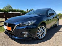 USED 2015 65 MAZDA 3 2.0 SPORT NAV 5d 163 BHP SAT NAV HEADS UP DISPLAY HEATED LEATHER SEATS BOSE KEYLESS ENTRY