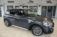 USED 2017 67 MINI COUNTRYMAN 1.5 COOPER S E ALL4 5d AUTO 222 BHP FINISHED IN STUNNING THUNDER GREY METALLIC WITH CARBON BLACK CLOTH SEATS AND COLOUR COORDINATED 17 INCH MULTI SPOKE ALLOY WHEELS + SATELLITE NAVIGATION + DAB DIGITAL RADIO + APPLE CARPLAY PREPARATION + BLUETOOTH INCLUDING BLUETOOTH MEDIA STREAMING + CRUISE CONTROL + AIR CONDITIONING + AMBIENT INTERIOR LIGHTING + COLLISION ALERT + PARKING SENSORS + FRONT AND REAR FOGLIGHTS + ROOF RAILS + ELECTRIC MIRRORS