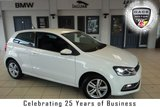 """USED 2016 66 VOLKSWAGEN POLO 1.0 MATCH 3d 74 BHP FINNISHED IN STUNNING WHITE WITH FULL CLOTH SEATS + FULL VW SERVICE HISTORY + DAB RADIO + BLUETOOTH + AUX/USB + AIR CONDITIONING + PARKING SENSORS + 15"""" ALLOY WHEELS"""