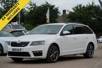 USED 2015 15 SKODA OCTAVIA 2.0 VRS TDI CR 5d 181 BHP SATELLITE NAVIGATION, FULL LEATHER + FULL SERVICE HISTORY