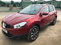 USED 2012 12 NISSAN QASHQAI 1.5 N-TEC PLUS DCI 5d 110 BHP PAN ROOF SAT NAV FSH SATELLITE NAVIGATION. PANORAMIC SUNROOF. STUNNING RED MET WITH BLACK CLOTH TRIM. CRUISE CONTROL. 18 INCH ALLOYS. COLOUR CODED TRIMS. PRIVACY GLASS. REVERSING CAMERA. BLUETOOTH PREP. CLIMATE CONTROL. TRIP COMPUTER. R/CD PLAYER. 6 SPEED MANUAL. MFSW. ROOF BARS. MOT 07/20. SERVICE HISTORY. SUV & 4X4 CAR CENTRE LS23 7FR. TEL 01937 849492. OPTION 2