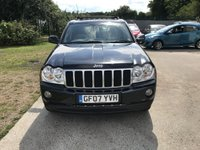 USED 2007 07 JEEP GRAND CHEROKEE 3.0 V6 CRD OVERLAND 5d AUTO 215 BHP TWO OWNERS + SAT NAV + SERVICE HISTORY