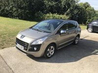 USED 2011 61 PEUGEOT 3008 1.6 EXCLUSIVE E-HDI FAP 5d AUTO 112 BHP PAN ROOF + PRIVACY GLASS + PARKING SENSORS