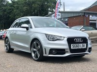 USED 2010 60 AUDI A1 1.4 TFSI S LINE 3d AUTO 122 BHP FULL SERVICE RECORD (7 STAMPS) *  HALF LEATHER *   17 INCH ALLOYS *  FULL YEAR MOT *  2 PREVIOUS KEEPERS *