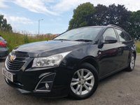 USED 2013 13 CHEVROLET CRUZE 1.8 LT 5d AUTO 139 BHP 2KEYS+AIRCON+ELECS+ALLOYS+AUX+USB+CLEAN CAR+HISTORY+PARK+MEDIA+