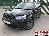 USED 2011 11 LAND ROVER FREELANDER 2 2.2 SD4 SPORT LE 5d AUTO 190 BHP BODYKIT SAT NAV BODYKIT. 4WD. SATELLITE NAVIGATION. STUNNING BLACK MET WITH TWO/TONE LEATHER TRIM. HEATED SEATS. CRUISE CONTROL. 19 INCH ALLOYS. COLOUR CODED TRIMS. PRIVACY GLASS. PARKING SENSORS. BLUETOOTH PREP. CLIMATE CONTROL. TRIP COMPUTER. R/CD/MP3 PLAYER. MFSW. MOT 05/20. SERVICE HISTORY. SUV & 4X4 CAR CENTRE LS23 7FR. TEL 01937 849492 OPTION 2