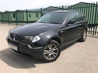 USED 2005 05 BMW X3 2.0 D SE 5d 148 BHP CRUISE PRIVACY A/C MOT 05/20 BLACK MET WITH BLACK CLOTH TRIM. CRUISE CONTROL. 17 INCH ALLOYS. COLOUR CODED TRIMS. PARKING SENSORS. CLIMATE CONTROL INCLUDING AIR CON. MFSW. R/CD PLAYER. ROOF BARS. MOT 05/20. SERVICE HISTORY. AGE/MILEAGE RELATED SALE. - LS23 7FQ. TEL 01937 849492 OPTION 4