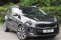 USED 2016 16 KIA SPORTAGE 1.7 CRDI 3 ISG 5d 114 BHP METALLIC PHANTOM PAINT, BLACK LEATHER, POLISHED ALLOY WHEELS, REVERSE CAMERA, FRONT AND REAR PARKING SENSORS, A/C, SAT NAV, BLUETOOTH, USB, HEATED SEATS, ONLY 1 OWNER FROM NEW, BIG SPEC EXAMPLE