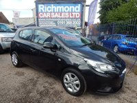 USED 2015 65 VAUXHALL CORSA 1.2 DESIGN 5d 69 BHP BIG TOUCH SCREEN, LOW INSURANCE, BLUETOOTH, AIR CONDITIONING,