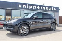 """USED 2018 18 PORSCHE CAYENNE 4.0 V8 T TIPTRONIC 5d AUTO 543 BHP Black Porsche Cayenne 4.0 V8 Turbo in Black with Black leather, Panoramic Sunroof, 21"""" Spyder Design Alloys, Privacy Glass, Carbon Interior Package, Sport Chrono Package, LED Headlights With Matrix Beam, Side Window Trims In High Gloss, Heated Multifunction GT Sports Steering Wheel, Reversing Camera, Power Steering Plus"""