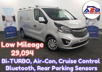 USED 2015 65 VAUXHALL VIVARO 1.6 CDTi 2700 SPORTIVE Bi-TURBO 120 BHP in Silver with Low Mileage (29,094) Air Conditioning, Cruise Control, Bluetooth, Rear Parking Sensors and more **Drive Away Today** Over The Phone Low Rate Finance Available, Just Call us on 01709 866668**